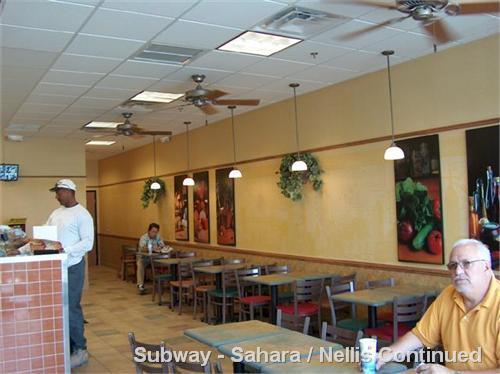 Subway - Sahara / Nellis Continued