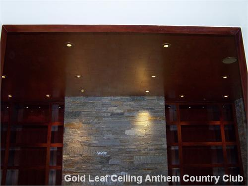 Gold Leaf Ceiling Anthem Country Club