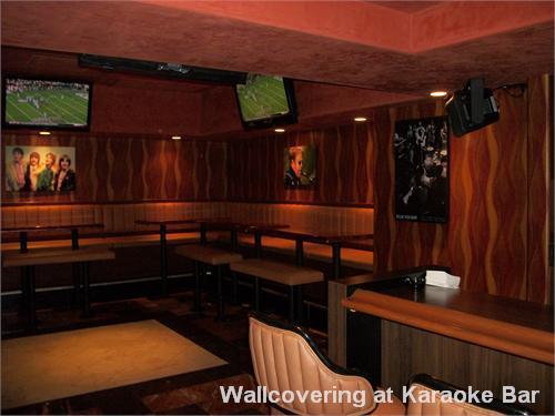 Wallcovering at Karaoke Bar