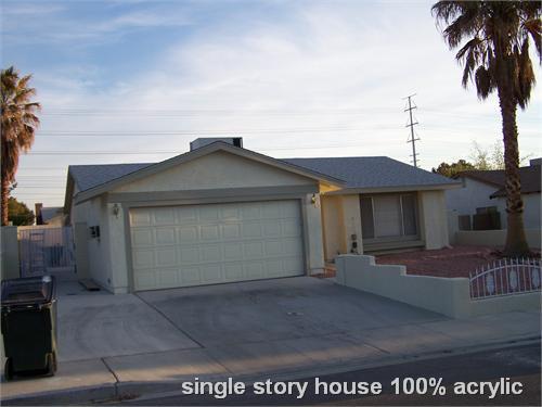 single story house 100% acrylic
