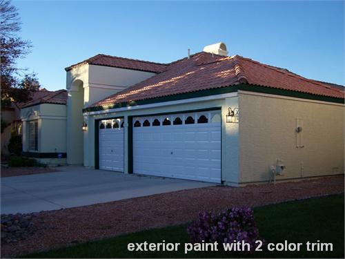 exterior paint with 2 color trim