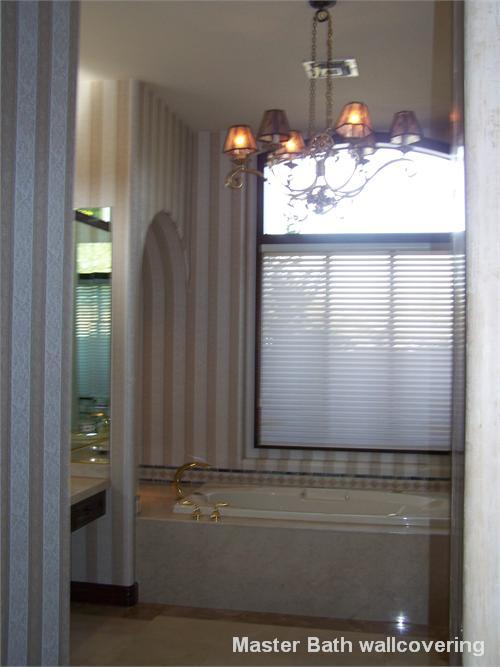 Master Bath wallcovering