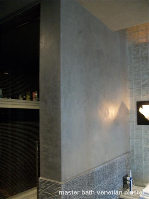 master bath venetian plaster