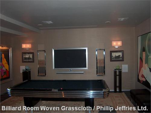 Billiard Room Woven Grasscloth / Phillip Jeffries Ltd.