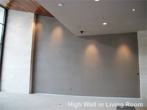 High Wall in Living Room